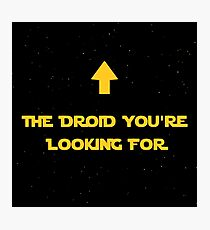 The Droid You're Looking For Photographic Print