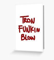 Tarjeta de felicitación Tron Funkin Blow