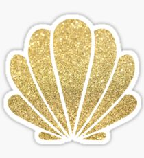 Gold Sparkle Seashell Sticker