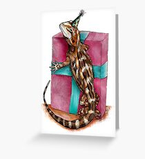 Party Reptile Greeting Card