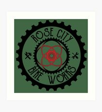 Rose City Bike Works Art Print