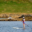 Paddleboarding on Chris Greene Lake   ^ by ctheworld