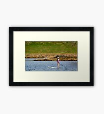 Paddleboarding on Chris Greene Lake   ^ Framed Print