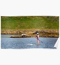 Paddleboarding on Chris Greene Lake   ^ Poster