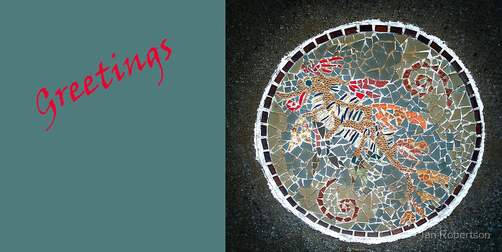 mosaic greetings by Ian Robertson