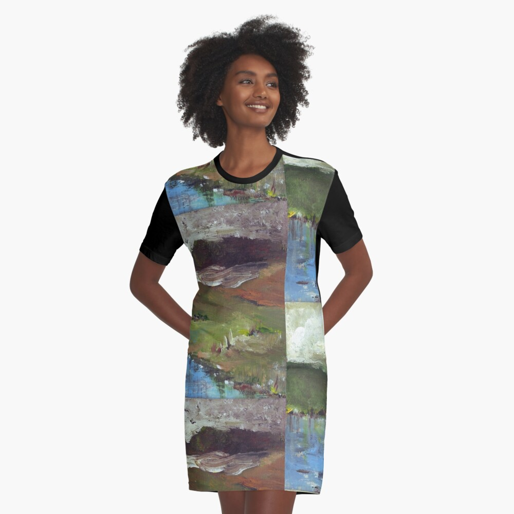 Winter moving in Graphic T-Shirt Dress Front