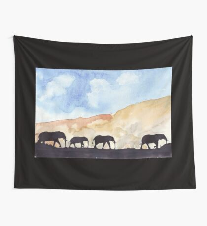 Silhouettes of Africa  Wall Tapestry