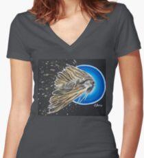 Tasmanian Gum Moth in Flight Women's Fitted V-Neck T-Shirt