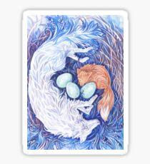 Wolf and Fox, Sleeping Sticker