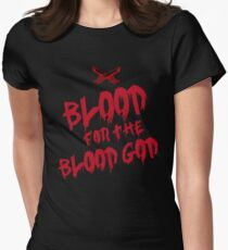 Khorne Chaos God Graffetti - Blood for the Blood God Women's Fitted T-Shirt