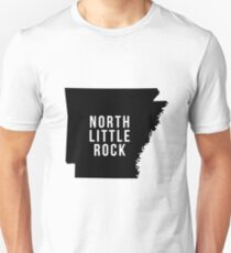 North Little Rock - Arkansas State Silhouette design T-Shirt