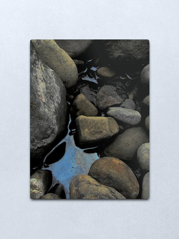 Alternate view of River rocks Metal Print