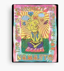 Namaste Yoga Dog Canvas Print