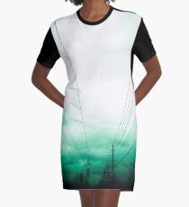 Power Clouds Graphic T-Shirt Dress