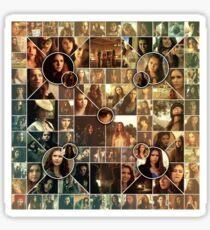 The Vampire Diaries - Petrova Doppelganger Collage Sticker