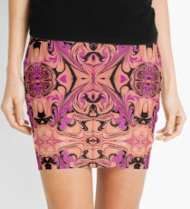 Pink/Black Marble Print Mini Skirt
