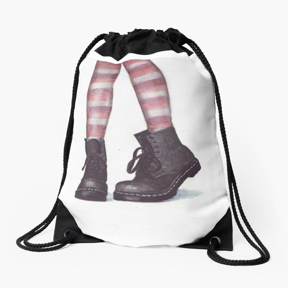 Dr Martens boots by Helga McLeod Drawstring Bag