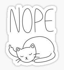 Nope Rude Cat Sticker