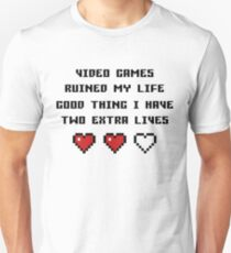 Two Extra Lives - Light Suitable Unisex T-Shirt