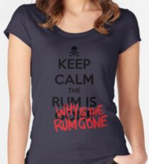 KEEP CALM - Keep Calm and Why Is The Rum Gone Women's Fitted Scoop T-Shirt