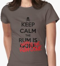 KEEP CALM - Keep Calm and Why Is The Rum Gone Women's Fitted T-Shirt