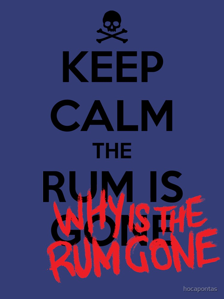 KEEP CALM - Keep Calm and Why Is The Rum Gone by hocapontas