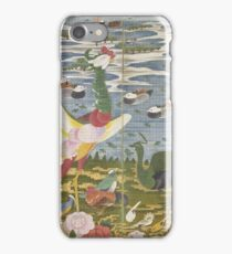 Ito Jakuchu - Animals In The Flower Garden (Left Hand Screen) Late 18th Century iPhone Case/Skin