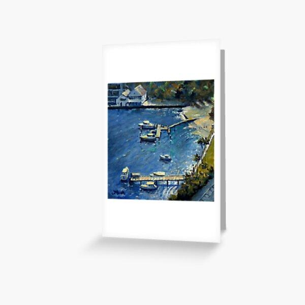 Deep Blue Lavender Bay, Sydney Harbour Greeting Card