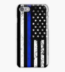 Police Styled Distressed Vertical American Flag  iPhone Case/Skin