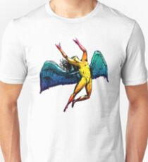 ICARUS THROWS THE HORNS - shiny ***FAV ICARUS GONE? SEE BELOW*** Unisex T-Shirt