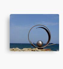 Steel sculpture.  Canvas Print