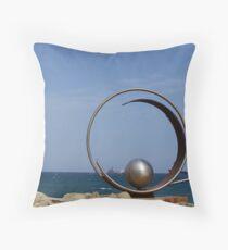 Steel sculpture.  Throw Pillow