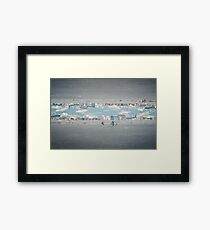 N°157: Double-exposure at the beach Framed Print