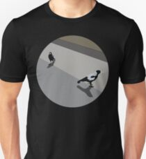 0006 Oh, tidings of magpies and joy - circle Unisex T-Shirt