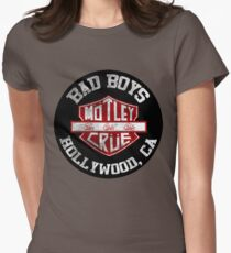 Motley Crue Bad Boys Womens Fitted T-Shirt