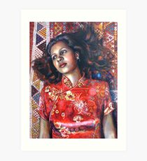 La Alfombra Roja (The Red Rug) Art Print