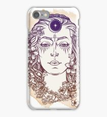 Faces of the Celtic myths - White Goddess iPhone Case/Skin