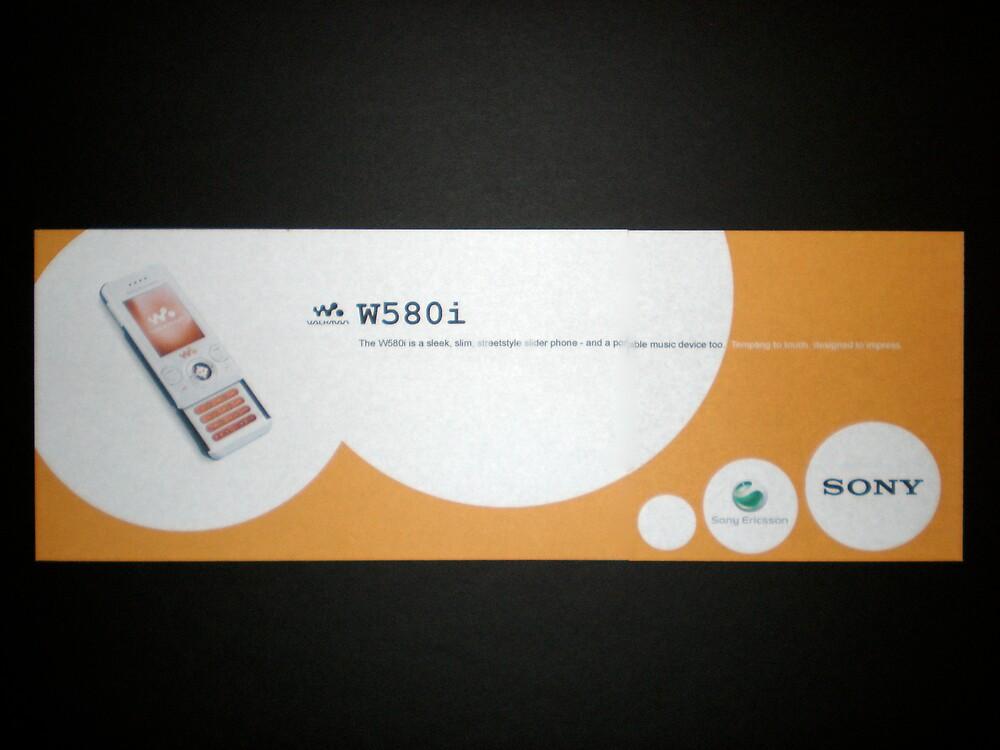 Sony Ericsson W580i Walkman Cell Phone [transit ad] by Alec Hildebrand