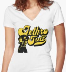 music rock 70s Women's Fitted V-Neck T-Shirt