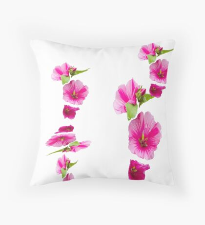 Pink flowers number 1  Throw Pillow
