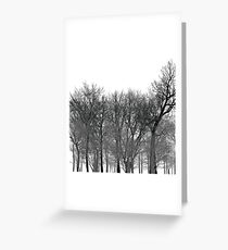 Abstract tree pattern in black Greeting Card