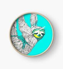 Spring Sloth Clock