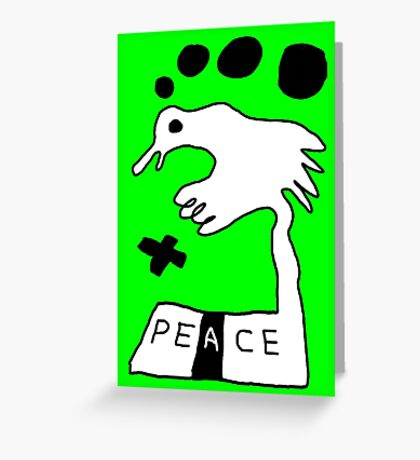 The Troubled Peace Dove Greeting Card