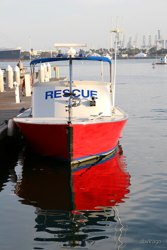 Red Rescue Boat by dbvirago