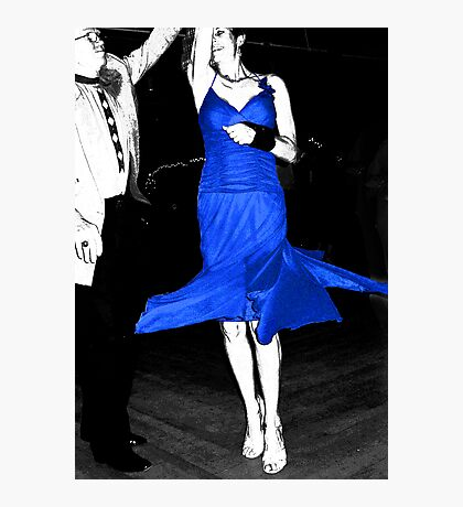 Blue Dress Dancing Photographic Print