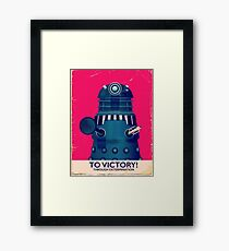 To Victory! Framed Print