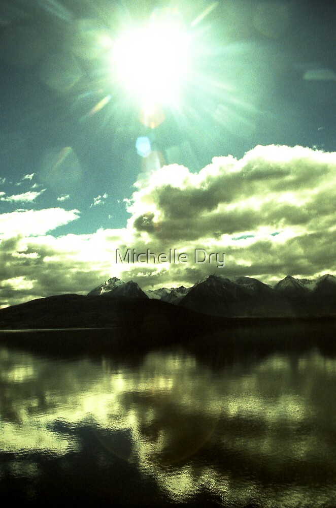 Light from above reflected from below. by Michelle Dry