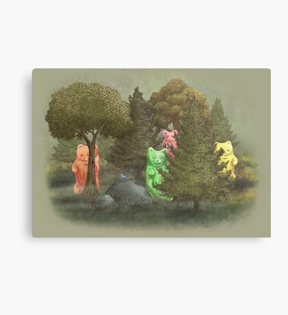 Wild Gummie Bears  Canvas Print