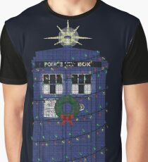 Police Box Christmas Knit Graphic T-Shirt