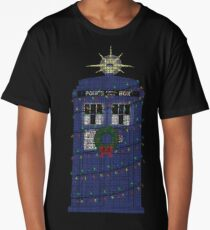 Police Box Christmas Knit Long T-Shirt